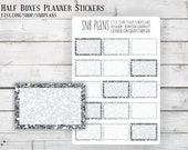 Glitter Half Boxes // Silver Glitter Chunky Mix // Planner Stickers // Perfect for Erin Condren, Plum Paper, Kikki K, and Filofax Planners