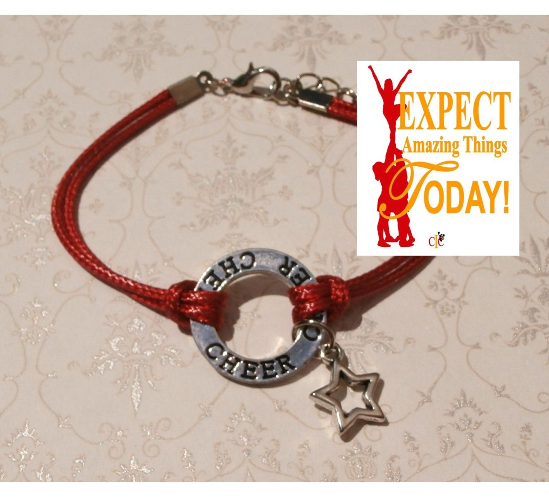 Cheer Charm Bracelets: Cheerleading Bracelet Cheerleading Jewelry Cheerleading