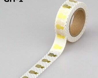 Washi tape_ananas gold foil