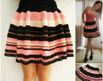 Crochet Skater Skirt Pattern