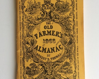 1968 Farmer's Almanac -FREE Shipping! -Robert Thomas