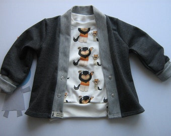 Baby Cardigan 74 hooded sweatshirt jacket