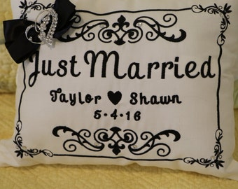 Wedding Date Pillow , Bride and Groom will Cherish forever.
