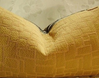 Striped Shenille Pillow Cover with a Goldfinch Lampas Backing and Zippered Opening - Decorative Pillow Cover/Designer Fabric