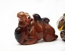 Vintage Camel Miniature Early Rare McFarlin Potteries Freeman-McFarlin Two Hump Camel Figurine Miniature Animals off card 1940-70