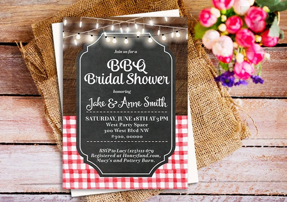 bbq bridal shower invitations