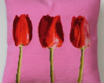 Tulips tapestry kit / needlepoint kit