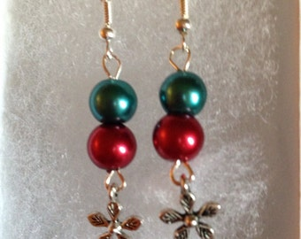 Clearance *marked half off*        Dangle christmas handmade earrings