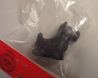 Vintage Scottie Dog - Welsh coal Figurine by Kingmaker - 1970s
