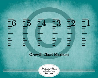 6 Foot Growth Chart Wall Decal