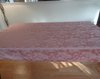 Vintage Pink Floral Tablecloth - 65x50