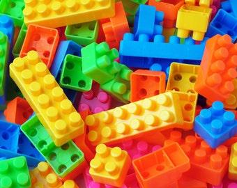 Building Blocks, Legos, Building Block Favor, Lego Theme, Lego favor, Birthday Party, Party Favor, Building Block Theme, Photography Prop,32