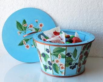 Round storage box Sewing box Chocolate box Home décor box Wooden round box Summer decor Kitchen decor