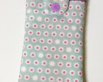 Case for smartphone sky blue and purple