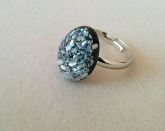 Adjustable ring, Silver plated
