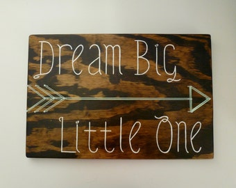 Dream Big Little One, Nursery String Art, Nursery Decor