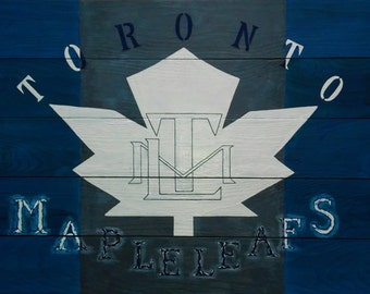 Hand painted Toronto Maple Leafs sign-large