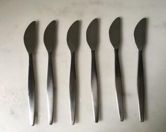Vintage Gense Sweden Focus Stainless Sandwich Knives