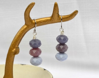 Purple ombre earrings - ombre dangle earrings