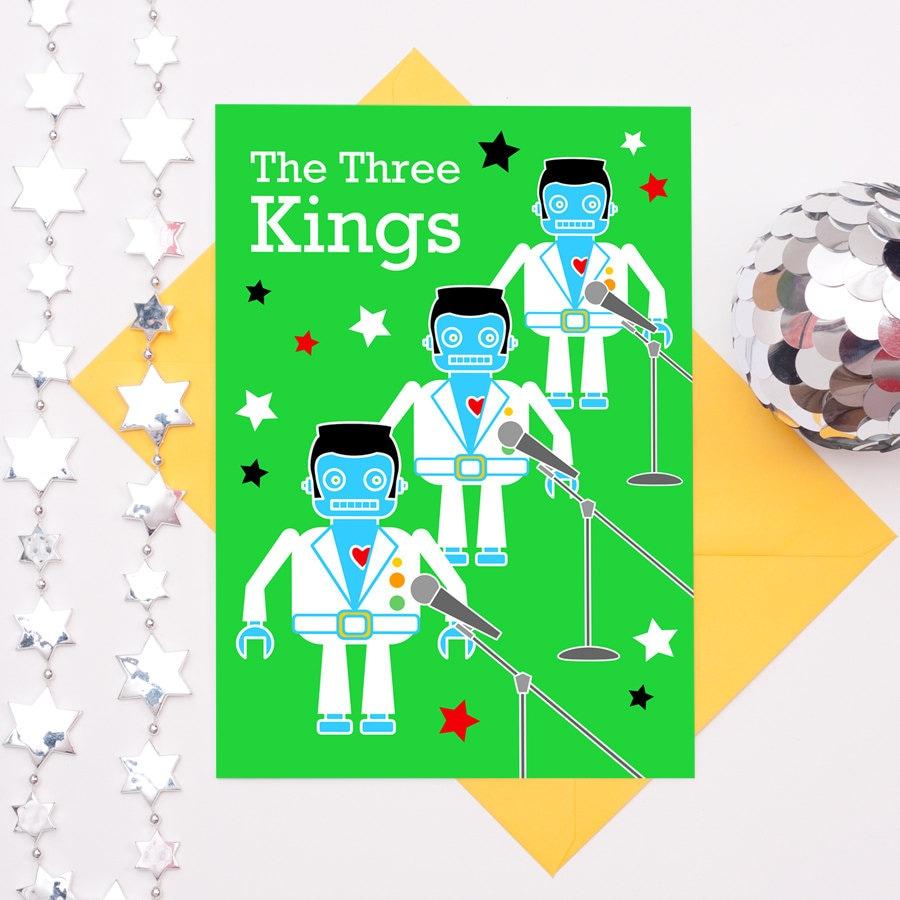Elvis Card Christmas Card Funny Robot Card Christmas Card Dad