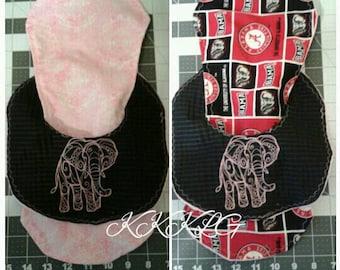 Alabama-themed Bib & Burp Cloth Set