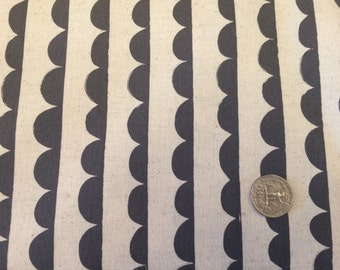 Charms Scallop Stripe Canvas Fabric Japanese Import