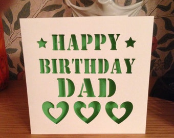 Happy Birthday Dad Etsy