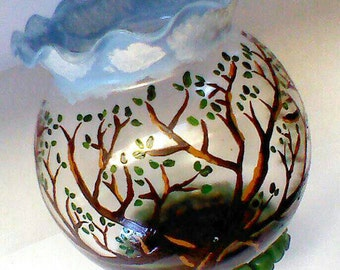 Hand Painted Tree Bowl