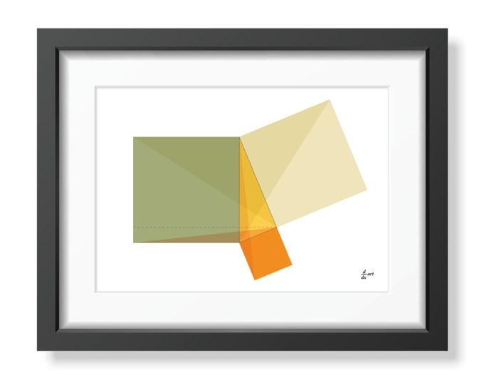 Pythagoras 04 [mathematical abstract art print, unframed] A4/A3 sizes