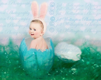 DIGITAL Easter Background, backdrop, Easter egg, for children, kids, babies and photographers