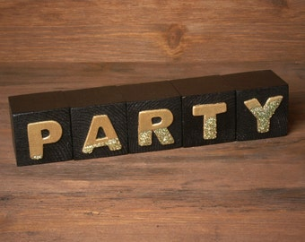 Classy Wooden Party Blocks