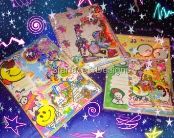 Kawaii 50/50/50 Grab Bag Small & Large Memo Sheets + Sticker Flakes 150pcs