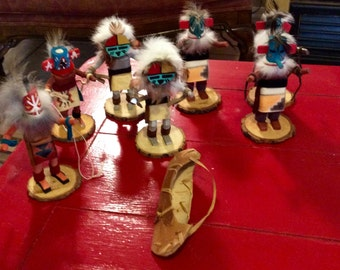 Authentic hand made Native American Kachina dolls