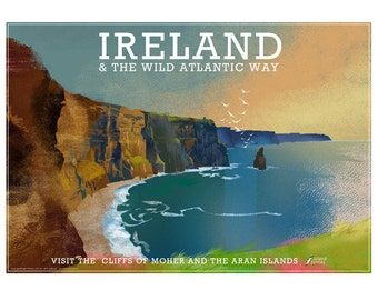 Poster of the Cliffs of Moher, Ireland