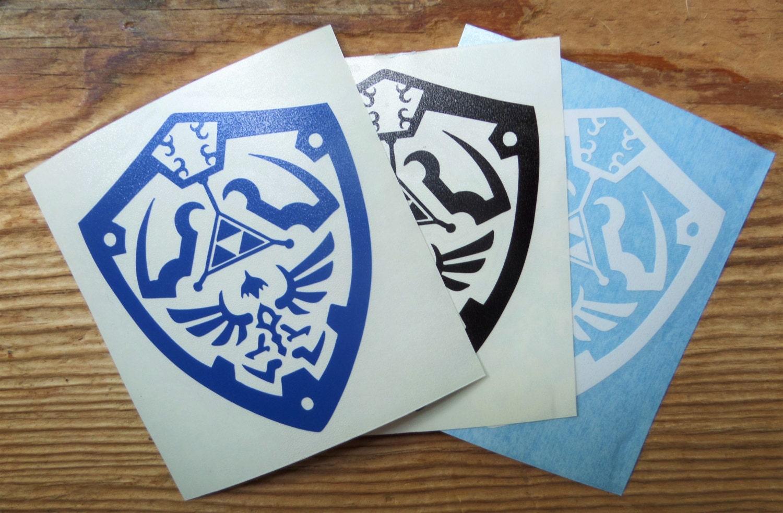 Hylian Shield vinyl cutout decal