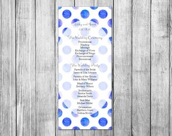 Simple wedding program Ceremony program Unique wedding Program Wedding programs samples Wedding stationery Wedding decor Modern wedding W5