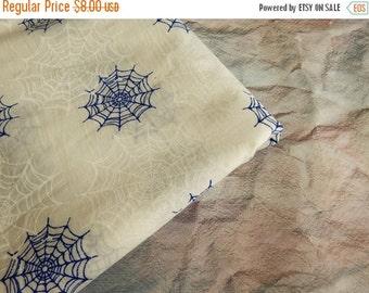 15% OFF 1 yard of Cobweb Print Fabric, Indian Cotton Fabric, Screen Printed Fabric, White Cotton Fabric