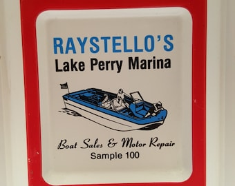 Vintage 1960's Lake Perry Marina Raystello's Boat Sales & Motor Repair Food Bait Tackle 412-1011 Thermometer