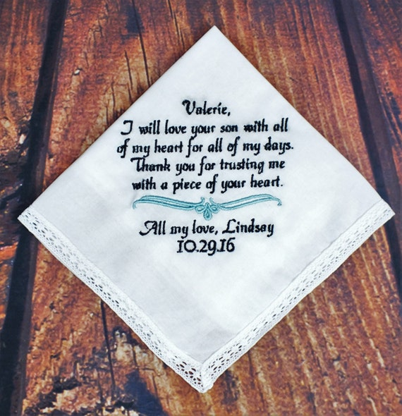 Wedding Handkerchiefs For The Family: Wedding Hankerchief For Mother Of Groom Mother Of By