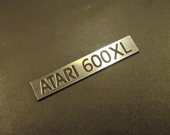 Atari 600 XL Label / Logo / Sticker / Badge brushed aluminum 48 x 9 mm [287]