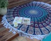 Mandala bohemian beach throw