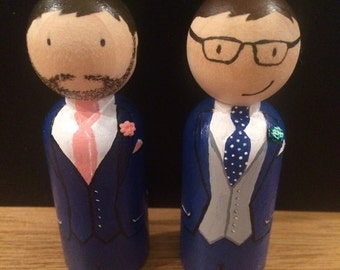 Personalised Gay Wedding Cake Toppers