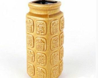 West Germany Vase Bay Ceramic Aziatic Decor '60
