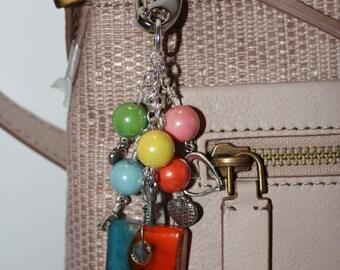 Glass Tile Handbag Charm