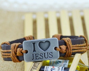 I love Jesus ( Tan and Brown)