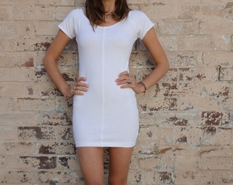 Vintage 90s Cap Sleeve Stretch Mini Dress