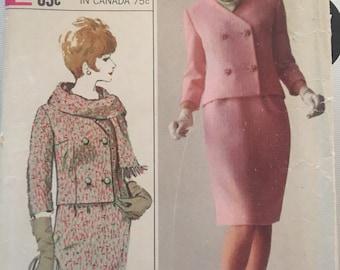 Vintage 60's Simplicity 6312 Suit Pattern-Size 14 (34-26-36)