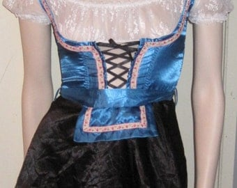 FREDERICK'S of HOLLYWOOD Beer Maid Fraulein Costume XS