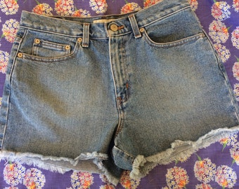 Cute 90's High Waisted Vintage Jean Shorts London Jeans Size 8