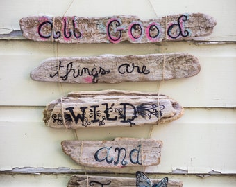 Driftwood custom made sign/ wall decor